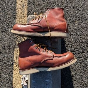 Men's used Red Wing Mic toe boots #8131 Size 10E